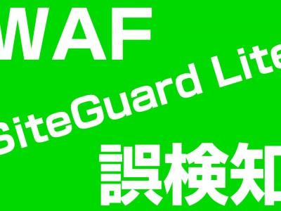 【誤検知】WAFのSiteGuard Liteで閲覧をブロックされてしまった場合の除外設定の方法